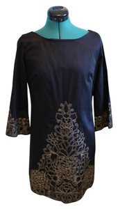 Lilly Pulitzer short dress Black with Gold Embroidery Chic Elegant Vacation on Tradesy