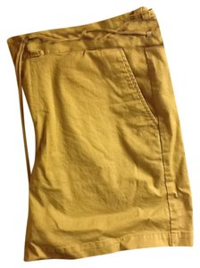 Chaps Clasp Closure Rope Tie Comfortable Stylish Stretchy Mini/Short Shorts Tan