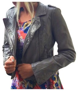 bebe Grey Leather Jacket