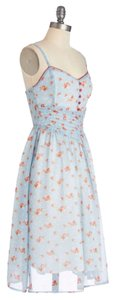 Floral/Light Blue Maxi Dress by Modcloth