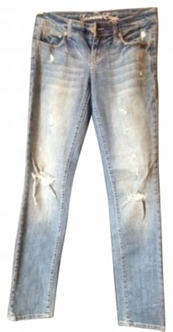 American Eagle Outfitters Straight Leg Jeans-Distressed