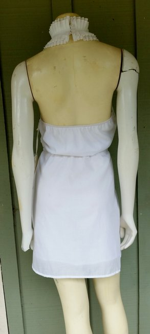 Jenny Han short dress White Pleated Ruffles Tie Belt Rounded Hem on Tradesy