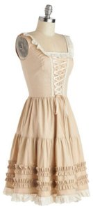 Modcloth short dress Cream & Ivory on Tradesy