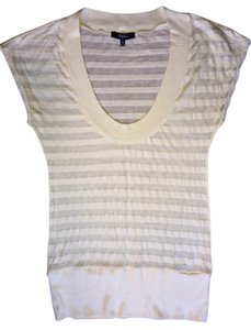 Express Stripe Sheer T Shirt Yellow