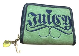 Juicy Couture Velour & Leather Zip Around Wallet