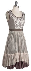 Modcloth short dress Purple w/ Cream Tulle on Tradesy