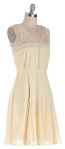 Modcloth short dress Cream & Lace on Tradesy