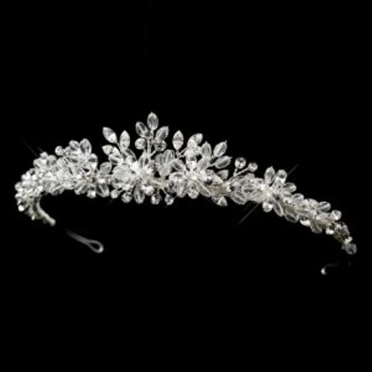 Elegance by Carbonneau Silver Crystal and Rhinestone Tiara