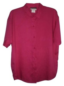Nordstrom Sandra Ingrish Button Down Shirt fushia
