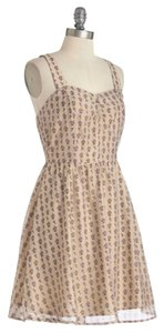 Modcloth short dress Floral/Beige on Tradesy