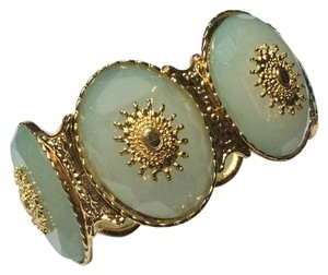 Francesca's Francesca's Mint Green and Gold Tone Stretch Bracelet
