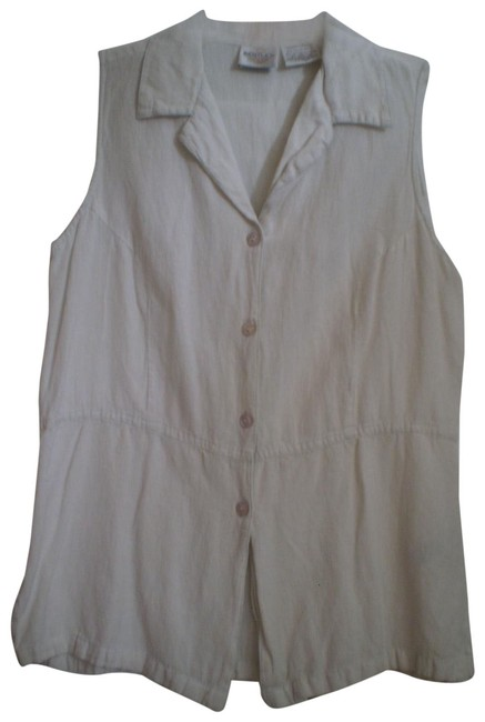 Preload https://img-static.tradesy.com/item/145461/off-white-cute-comfy-sleeveless-shirt-button-down-top-size-10-m-0-1-650-650.jpg