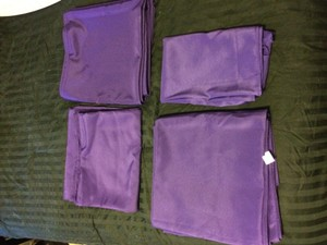 Purple Table Polyester Cloths