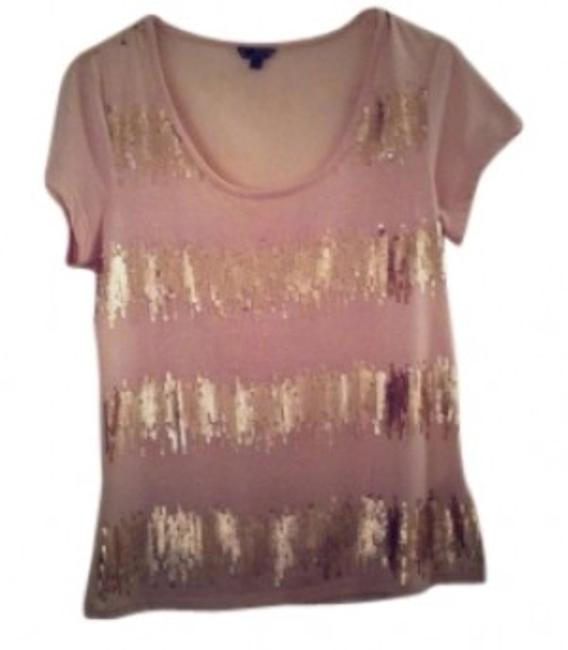 Preload https://img-static.tradesy.com/item/145468/pale-pink-sheer-sequins-blouse-size-8-m-0-0-650-650.jpg