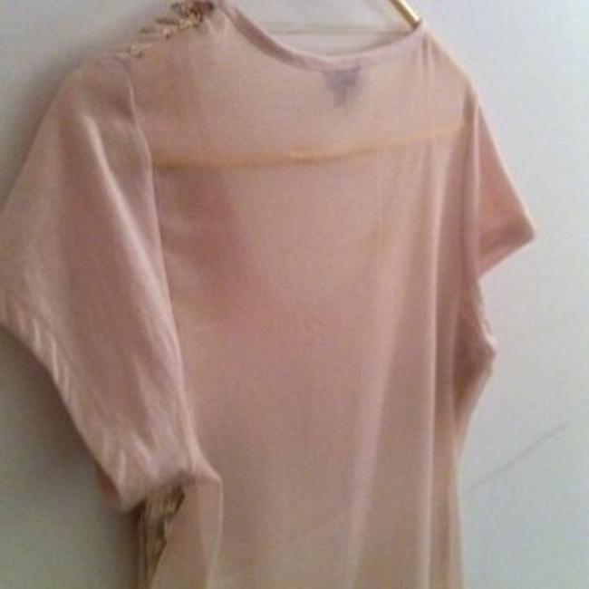 Unknown Sheer Sequins Top Pale Pink