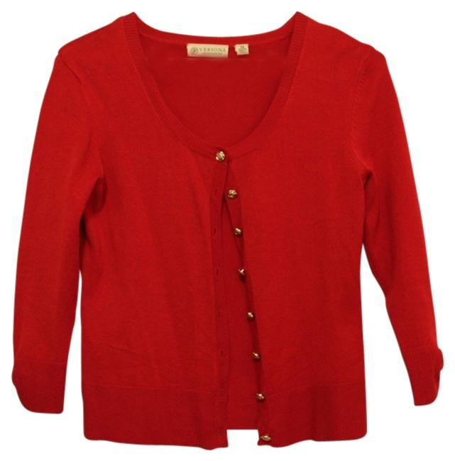 Preload https://item5.tradesy.com/images/versona-red-roses-34-length-sleeves-sweaterpullover-size-2-xs-1454729-0-0.jpg?width=400&height=650