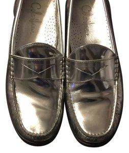 Cole Haan Silver patent Flats