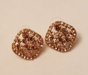 Mother Of The Bride Crystal Gp Champagn Earrings