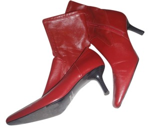 Rampage High Heel Formal Red Boots