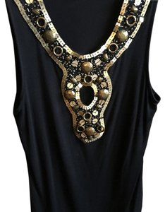Cache Top Black with gold