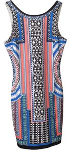 Jealous Tomato short dress Multi Bodycon Zipper Scoop Back Tribal Print on Tradesy