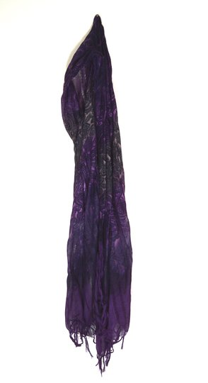 Maurices Light Weight Purple Paisley Scarf with fringe