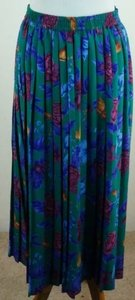 Alfred Dunner Purple Skirt Multi-Color