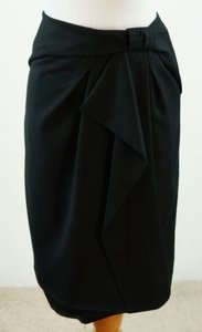 Banana Republic Draped Bow Skirt Black