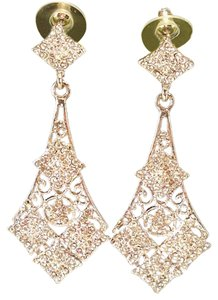 Austrian Crystal Dangle Bridal Earrings