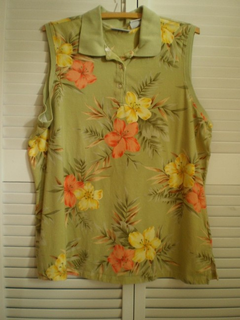 Preload https://img-static.tradesy.com/item/145490/jaclyn-smith-like-new-sleeveless-floral-polo-button-down-top-size-18-xl-plus-0x-0-0-650-650.jpg