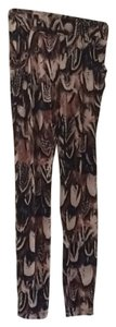 bebe Black multi colored Leggings