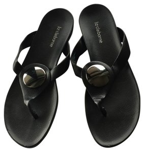Liz Claiborne Black Sandals