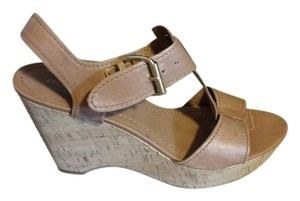Franco Sarto Brown Wedges