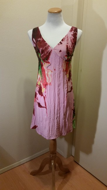 Just Cavalli Floral Pink Green Dress