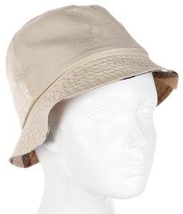 Burberry Tan Burberry reversible House Check plaid bucket hat