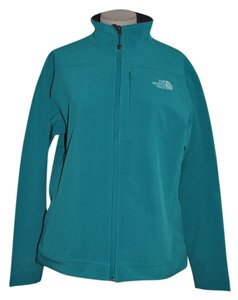 The North Face Caroleena Hi Lo Outdoors Full Zip Soft Shell Fanfare Green Jacket