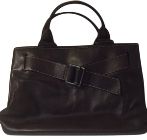 Longchamp Leather Work Tote Satchel in Brown