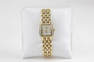 Gruen Gruen 7.25goldtone Diamond Accent Case Mother Of Pearl Face Bracelet Watch Bj16