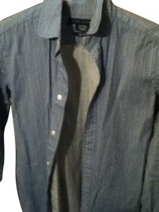Ralph Lauren Button Down Shirt BLUE WITH DARK BLUE STRIPES