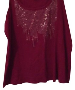 Avenue Top Merlot/with silver detail