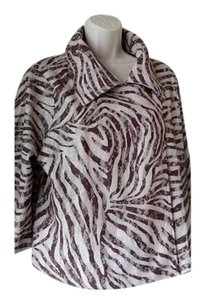 Chico's Spring Animal Print Beige (animal print) Jacket