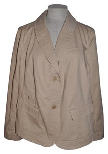 Talbots Grace Fit Safari Casual Resort Woman Petites Khaki Jacket