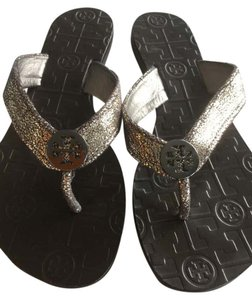 Tory Burch Metallic silver Sandals