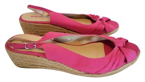 Qupid Hot Pink Wedges