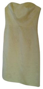 A.B.S. by Allen Schwartz Satin Party Classic Classy Princess Bustier Hourglass Knee Length Knee Pale Dress