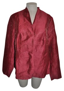 Coldwater Creek Embroidered Fancy Date Night Oxblood Blazer