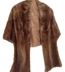 New York Mink Dark Fur Vintage Coat Fur Jacket Cape