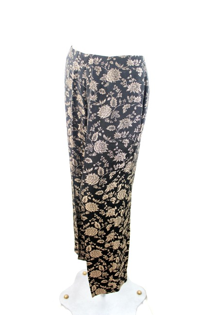 Dana Buchman Straight Pants Black and Gold
