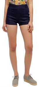 Urban Outfitters High Waisted Mini/Short Shorts Blue