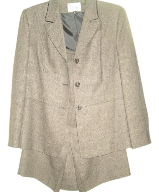 Item - Black/Gray 2 Piece Skirt Suit Size 12 (L)